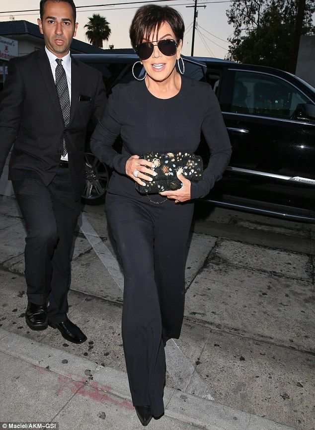 30a0b61db0 Fancy night out  Kris Jenner looked elegant in her all black ensemble on  Wednesday in West Hollywood