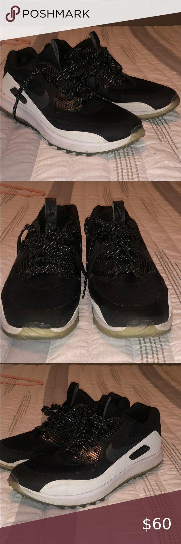 Predownload: Nike Zoom Airmax 90 Golf Shoe Nike Zoom Golf Shoes Black Nikes [ 1740 x 580 Pixel ]