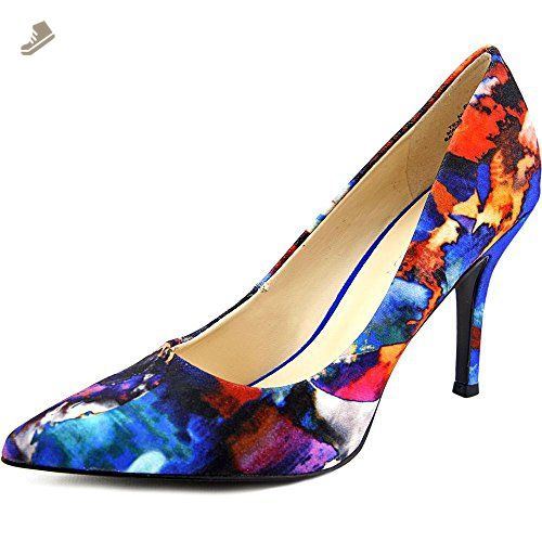 9b7c323d6dfff Nine West Women's Flax Floral Printed Dress Pumps, Blue, Size 5.5 ...