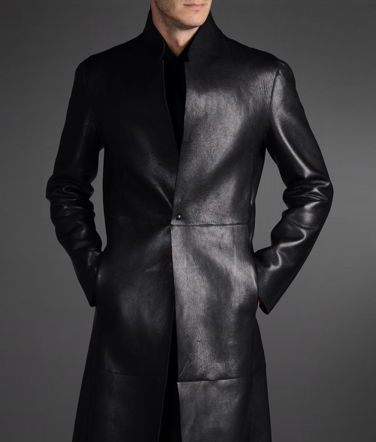 348abb5095 Emporio Armani - Official Online Store Men Leather coat | Leather ...