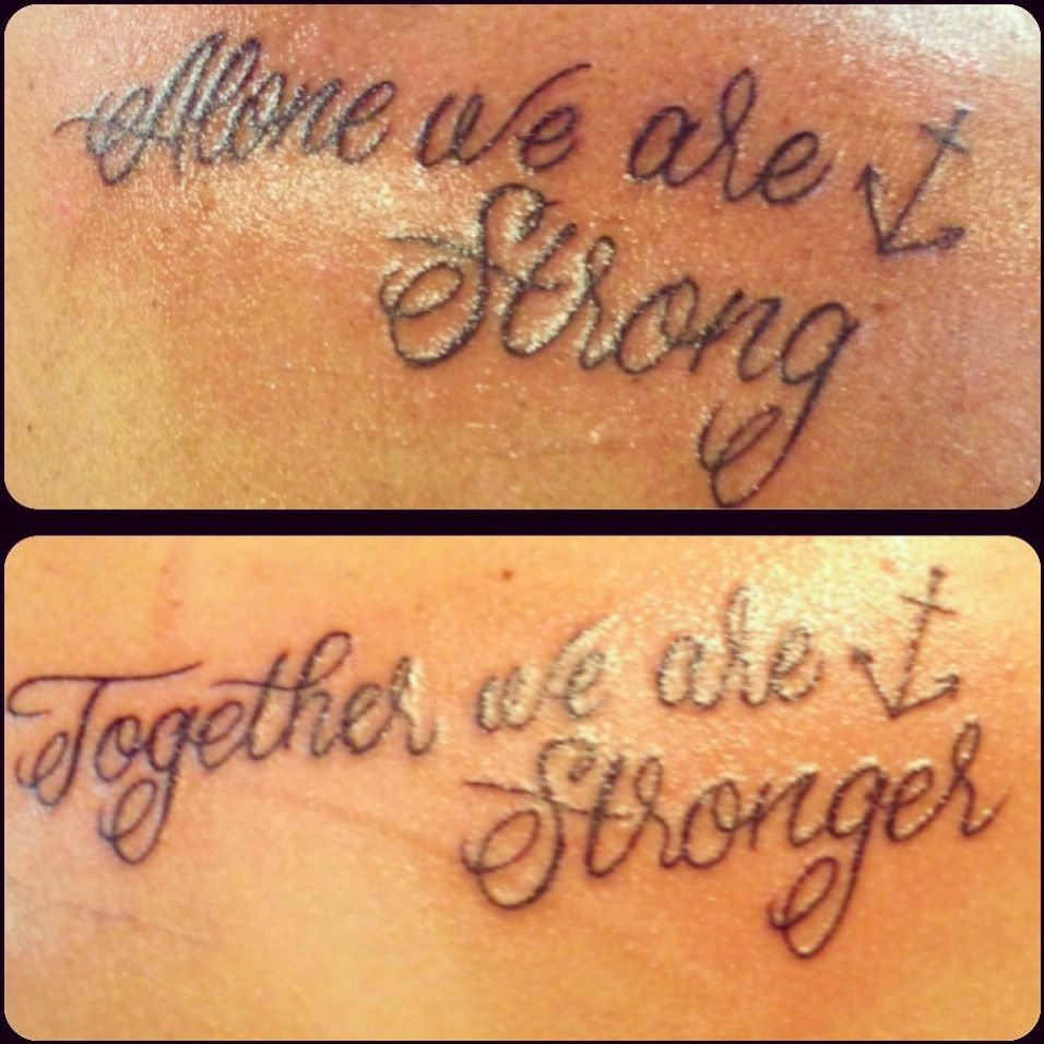 Mine and My cousins tattoos @Colby Case | tattoos | Cousin ...