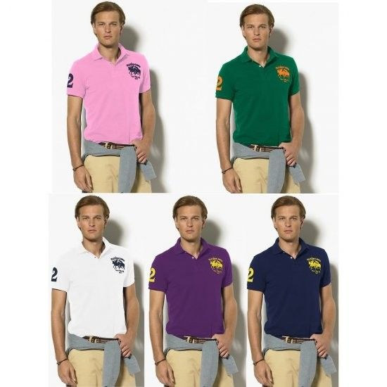 Ralph Lauren Custom-Fit Dual Match Pony Polo Shirts More colors