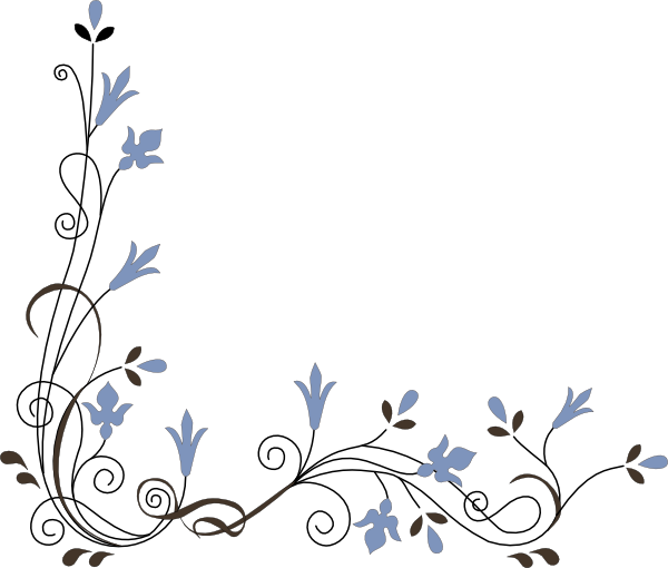 Simple Flower Corner Clipart Clip Art Borders Simple Flowers Flower Clipart