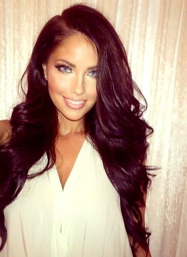 ♥ this hair color. Seriously thinking about going dark | hair ...