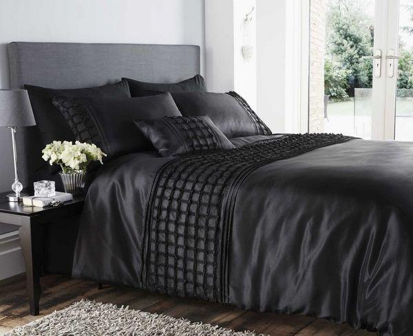 alfombra de piel cabecero gris funda nórdica de la colmena del negro ...