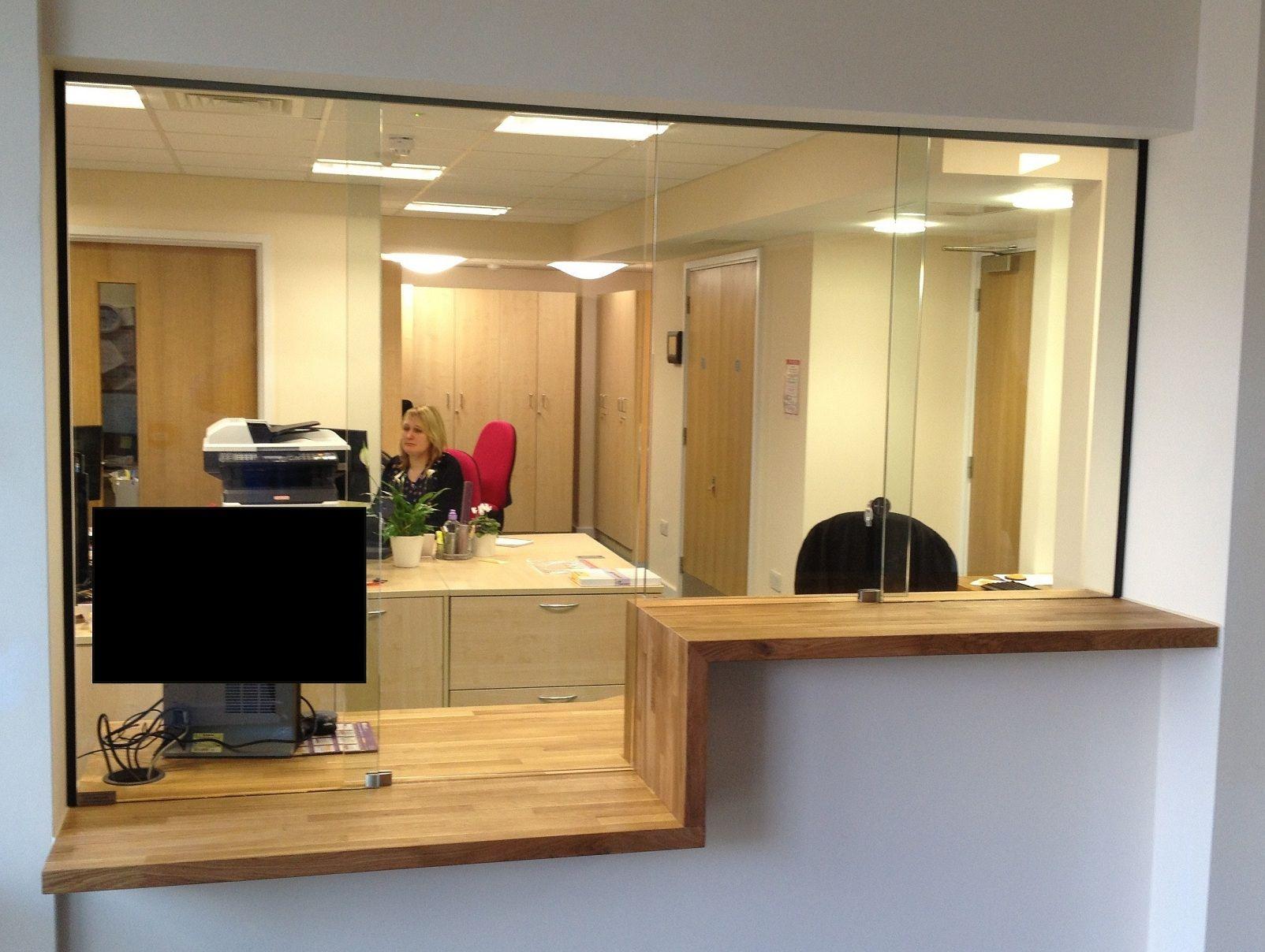 Sliding Glass Reception Window Counter