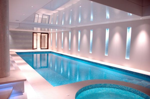Contemporary Indoor Swimming Pool Design Inspiration With Simple And Modern Style