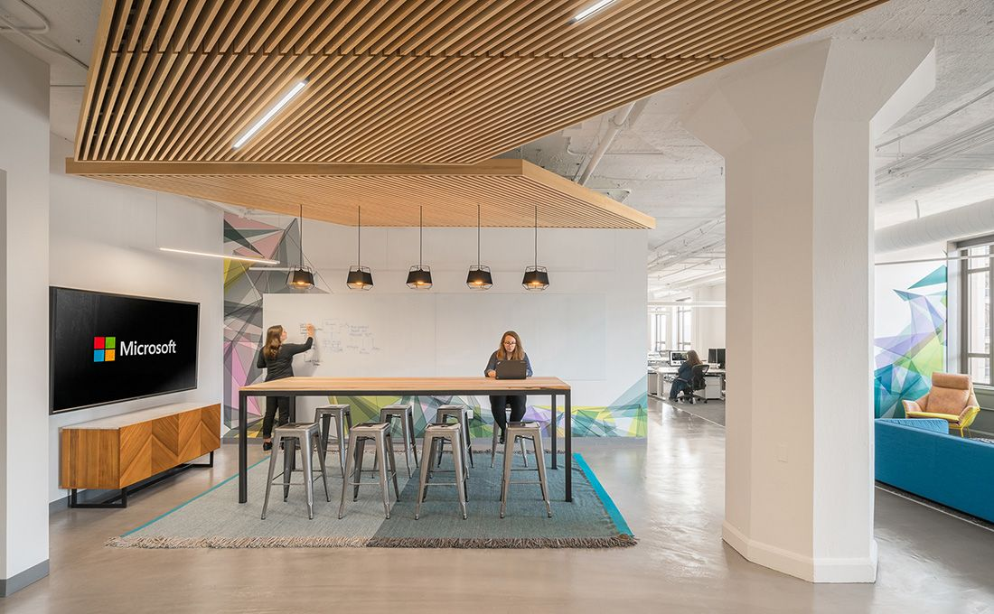 a tour of microsoft s new san francisco office expansion. Black Bedroom Furniture Sets. Home Design Ideas