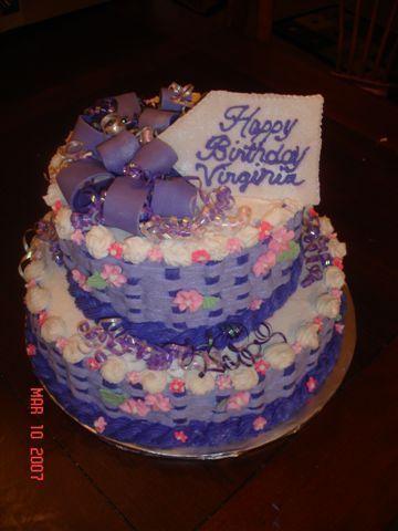 Happy Birthday Virginia Cake Atletischsport