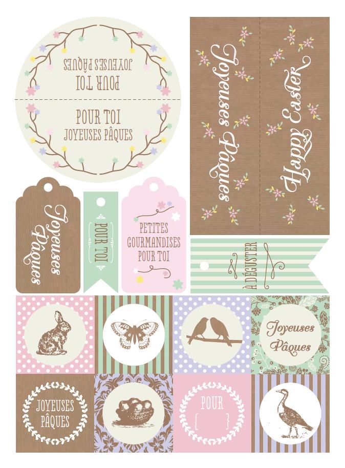 Nos tiquettes de p ques t l charger petits papiers imprimables gratuits joyeuses paques - Images de paques a imprimer ...