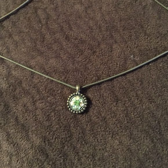 Lia Sophia Necklace I've had this for a long time and it's just sitting in my jewelry box! Green colored stones in the center Lia Sophia Jewelry Necklaces