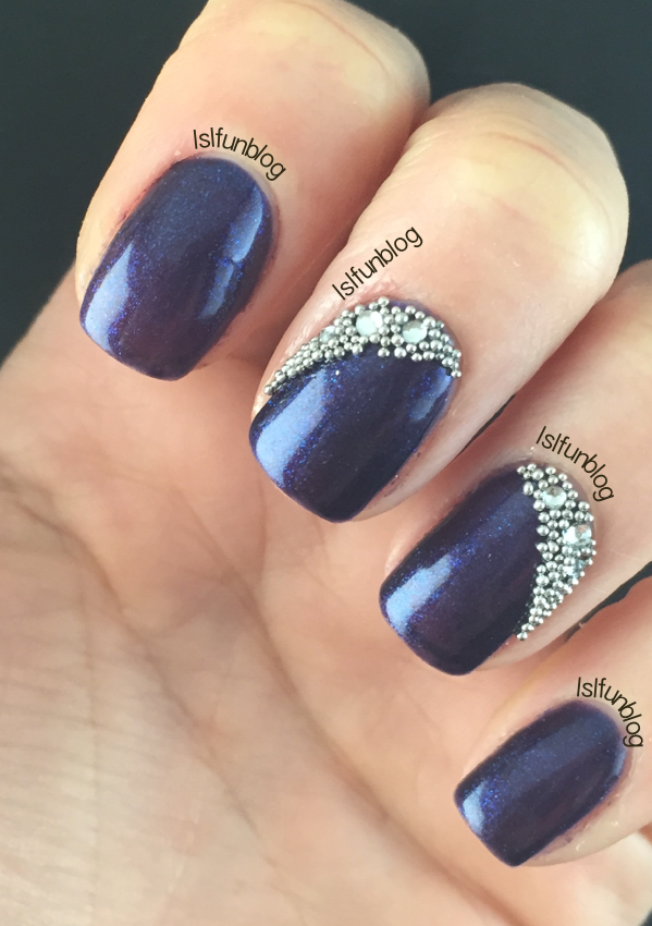 Navy Blue and Crystals Gel Nail Design With MelodySusie | !♡ Need ...