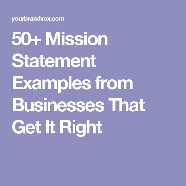 50 mission statements
