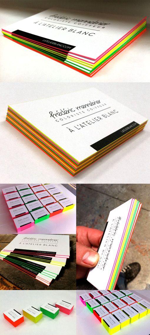 Stunning Neon Edge Painted Letterpress Business Card | Design ...