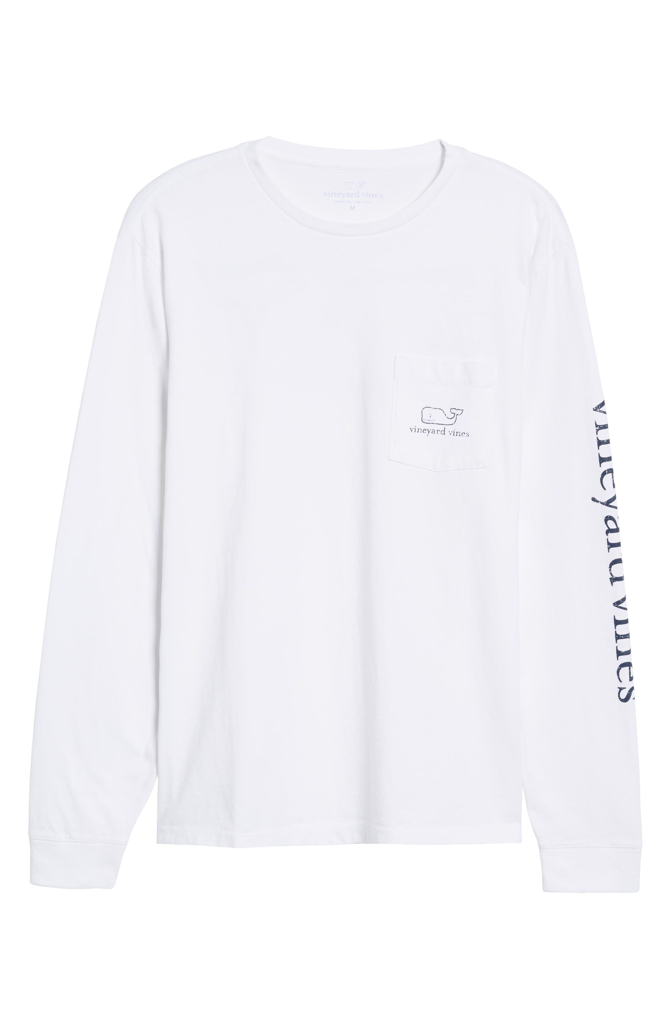 ce3aaa1f57 Men's Big & Tall Vineyard Vines Vintage Long Sleeve Pocket T-Shirt, Size  3XB - White