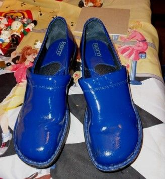 Born Blue Mules | Clogs, Leather clogs