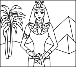 Princess Of Egypt Coloring Page Reading Oasis Scholastic Book