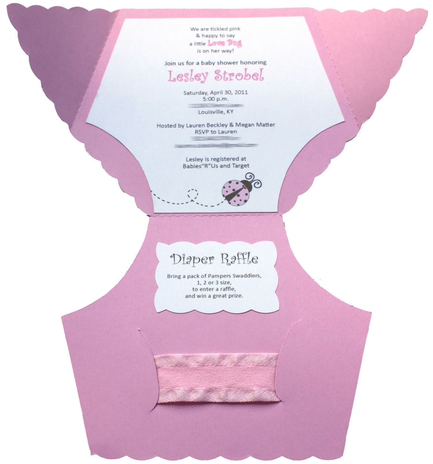 Baby Shower Diaper Invitation Template. I made these for my sister\'s ...