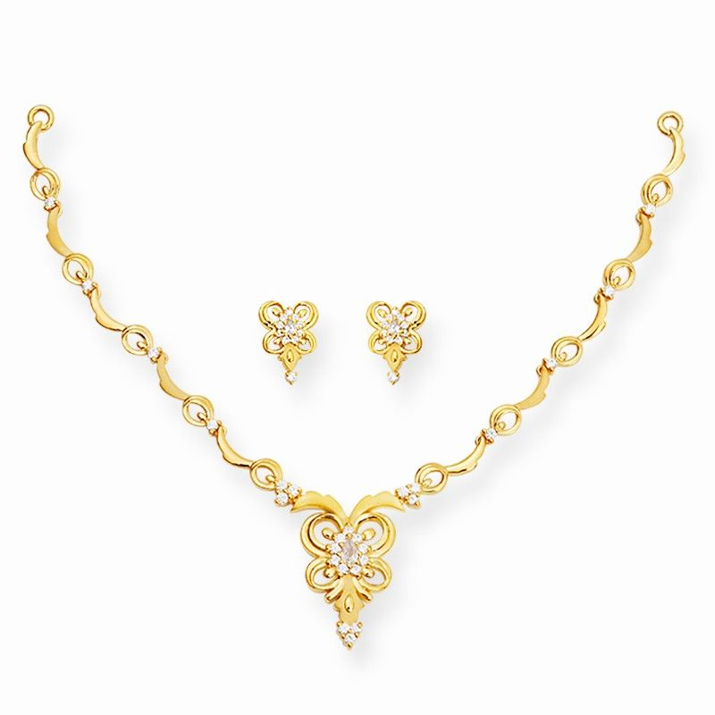 Gold Casting Butterfly Necklace Set | idea for jewellery ...