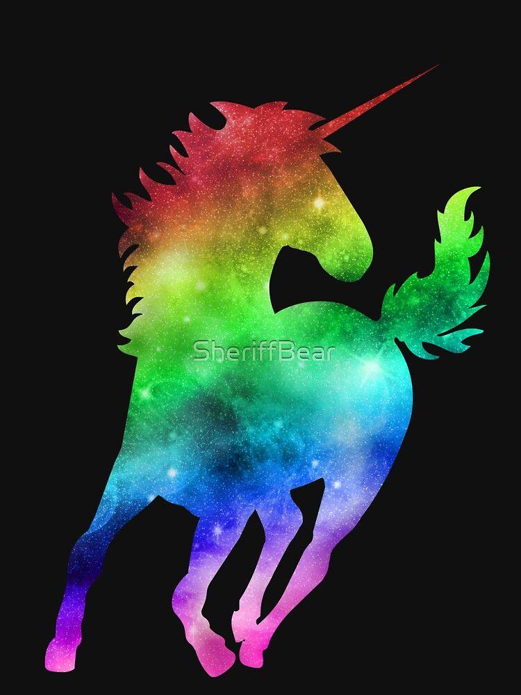 Rainbow Galaxy Unicorn Essential T Shirt By Sheriffbear Rainbow Galaxy Unicorn Picture Pony Drawing Galaxy unicorn wallpaper for computer