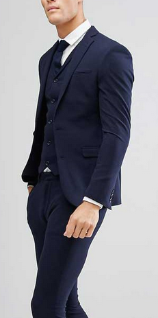 ae5f1defec11 ASOS DESIGN super skinny fit suit jacket in navy £60.00 #Menswear #Suits  #Menstyle #BritishSuits