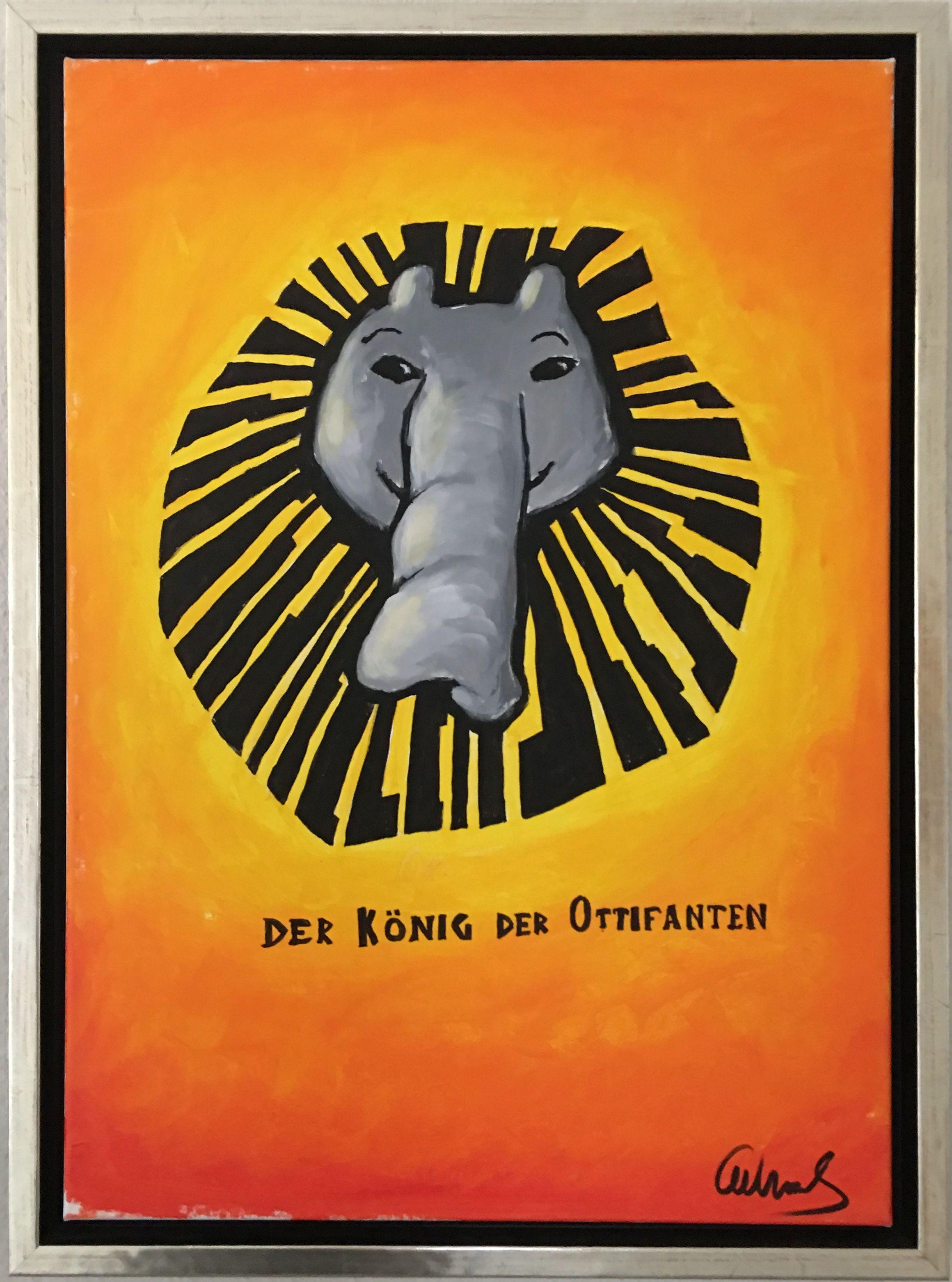 Der Konig Der Ottifanten Gemalde Von Otto Waalkes Gemalde Artpop Bilder