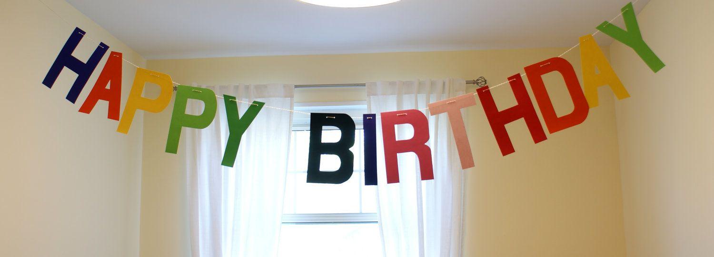 Happy Birthday garland/ party banner for Rainbow by LovelySeason. $21.90, via Etsy.