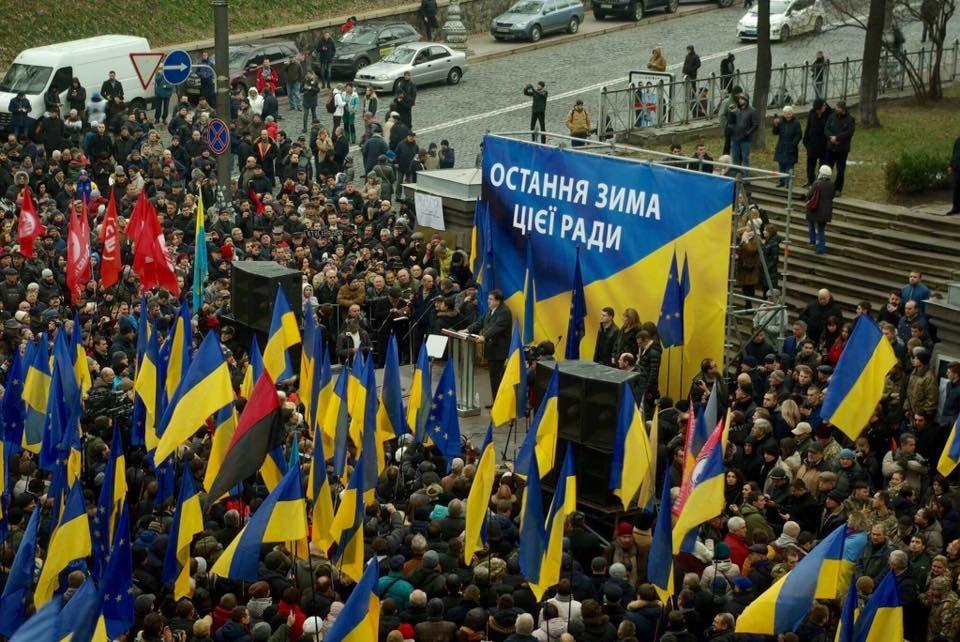 #world #news  В центре Киева митингуют сторонники Саакашвили: призывают к перевыборам  #FreeUkraine #StopRussianAggression