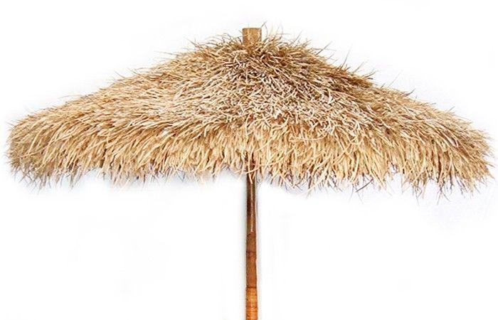 Bamboo And Sea Grass Folding Umbrella 7 Tiki Huts And