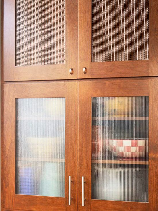 Take The Wood Fronts Off Your Kitchen Cabinets And Redo With Plexiglass Or Add Screening For A Differen Glass Kitchen Cabinets Door Texture Glass Cabinet Doors