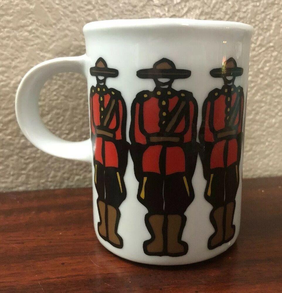 Marc Tetro Mounties Coffee Mug RCM Royal Canadian Mounties