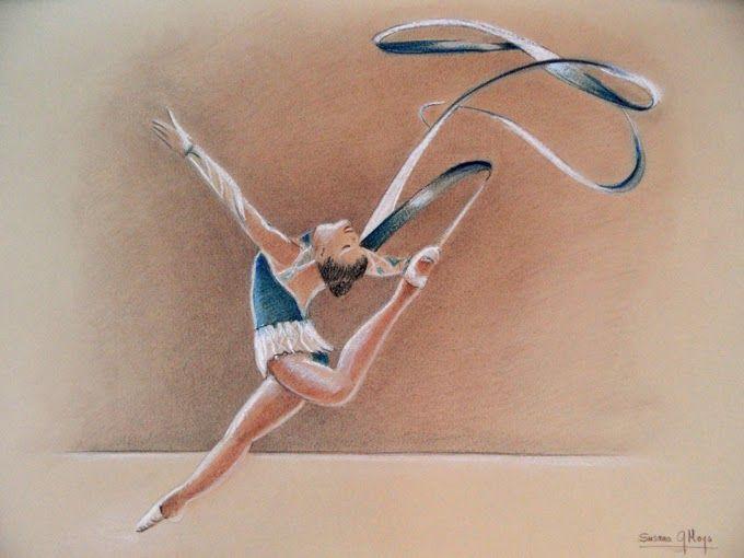 Dibujos en Ocre y azul: Gimnasia rítmica | love dibujos | Pinterest ...