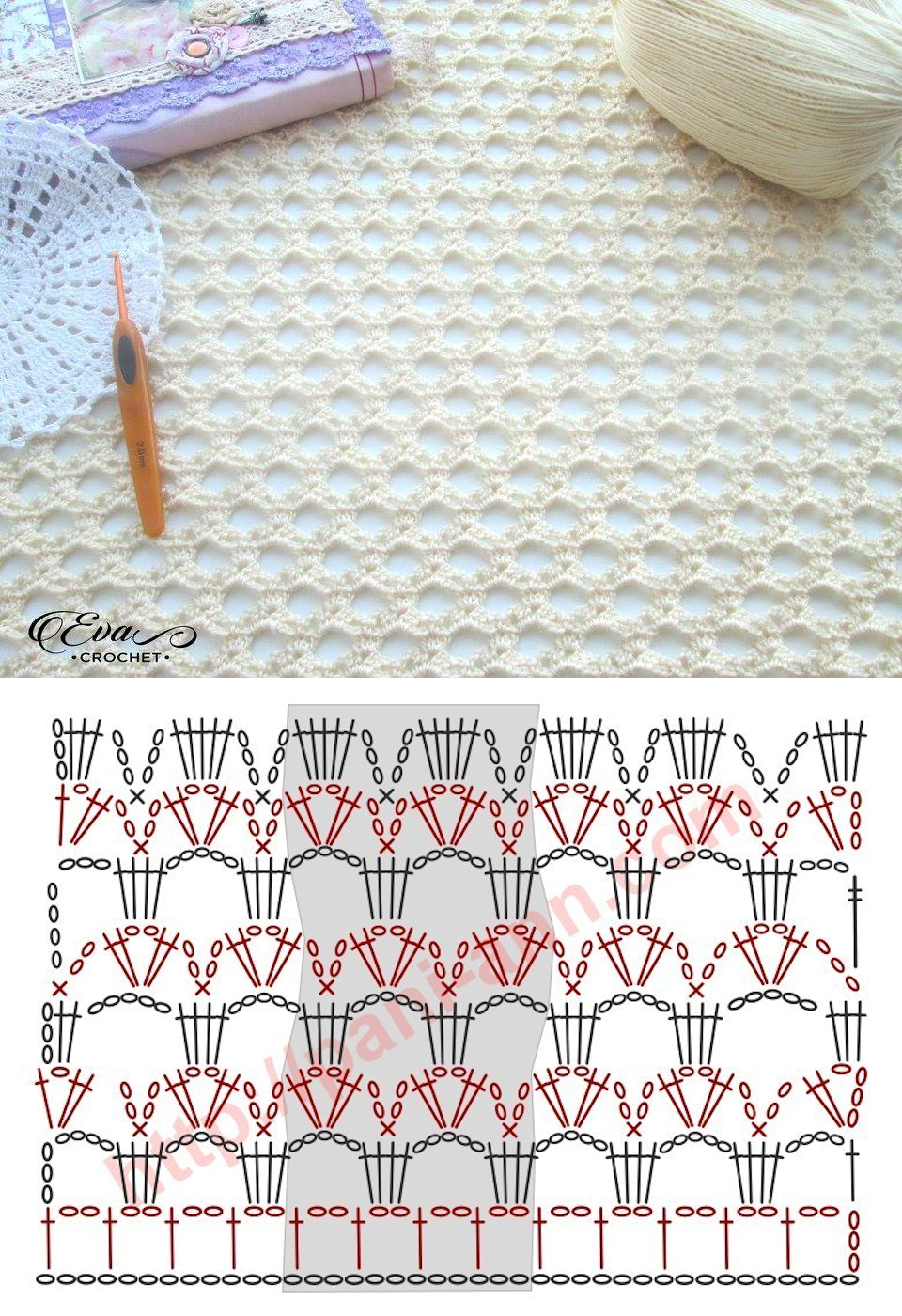 Crochet Lacy Stitch | Puntadas | Pinterest | Häkelmuster, Häkeln und ...