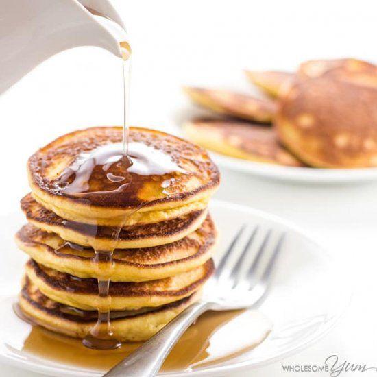 Almond Coconut Flour Pancakes Gf Low Carb Pancakes Coconut Flour Paleo Low Carb Pancake Recipe