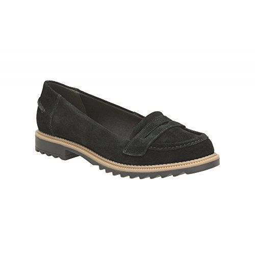 Clarks Womens Casual Clarks Griffin Milly Suede Shoes In Black - [UK &  IRELAND]