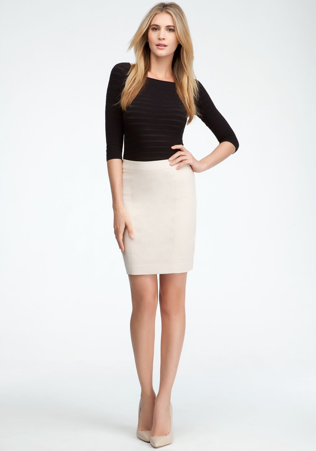 Women's White Mini Pencil Skirt | Pencil skirts and Bebe