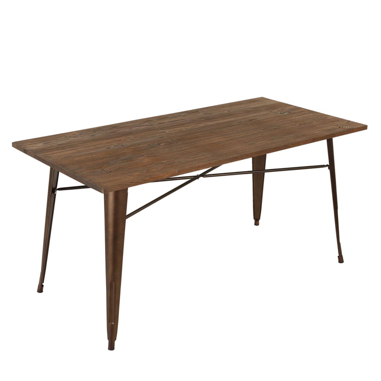 Künstlerisch Esstisch 160x80 Galerie Von Tisch Moskva Rusty Wood