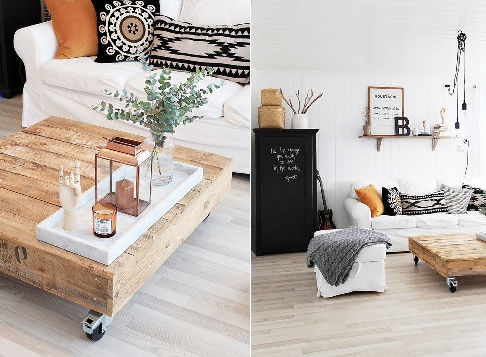 10 Coffee Tables On Wheels To Diy Before The End Of Summer Coffee Table With Wheels Upholstered Coffee Tables Trending Decor