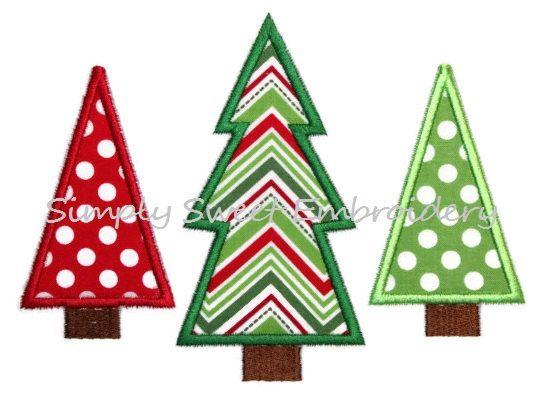 Christmas Tree Trio Machine Embroidery Applique Design Etsy In 2020 Embroidery Machine Applique Designs Machine Embroidery Applique Machine Embroidery