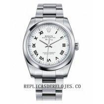 Rolex Air-King linea plata Domed Bisel reloj 114200 WRO