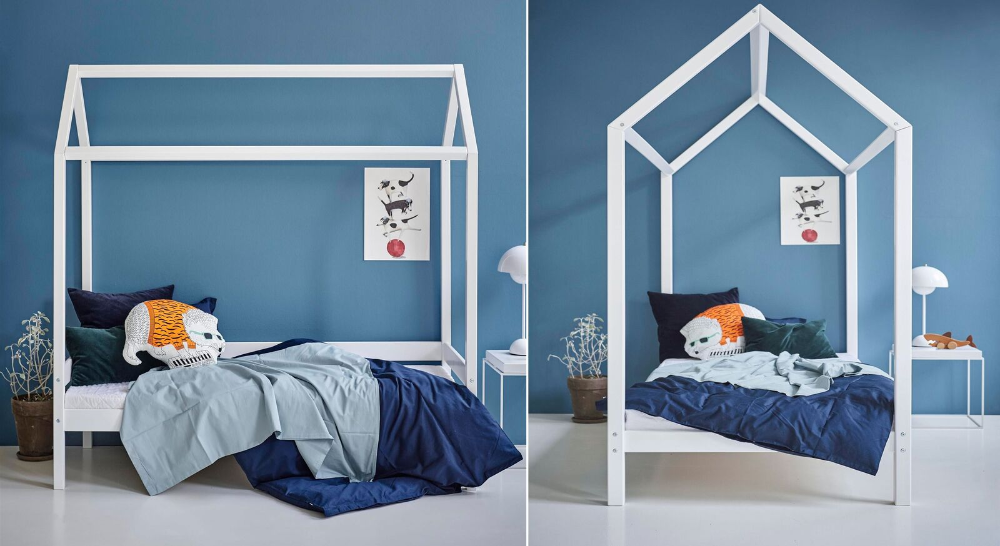 Cooles Hausbett in Kiefer massiv mit Lattenrost Kids