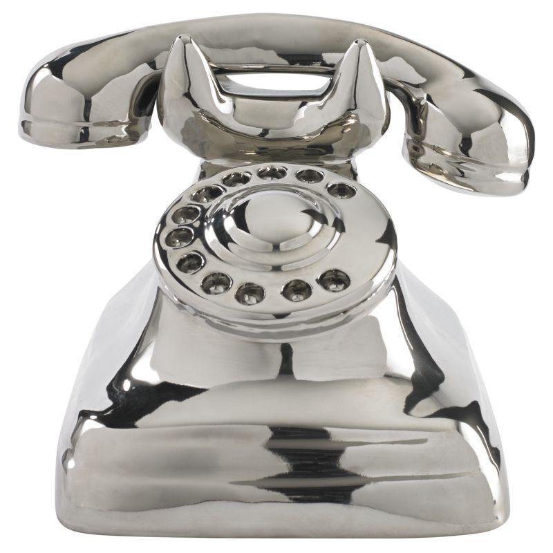 Asda Online Christmas Decorations: George Home Silver Phone Ornament