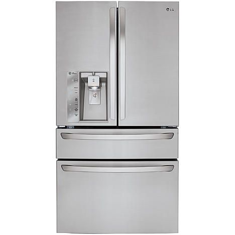 LG LMXC23746S 22.7 cu.ft. Counter-Depth 4-Door Refrigerator w/ CustomChill™ Drawer - Stainless Steel