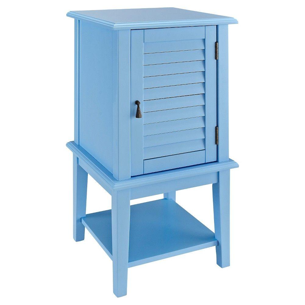 Damien Shutter Door Table   Ocean Blue   Oak Grove Collection
