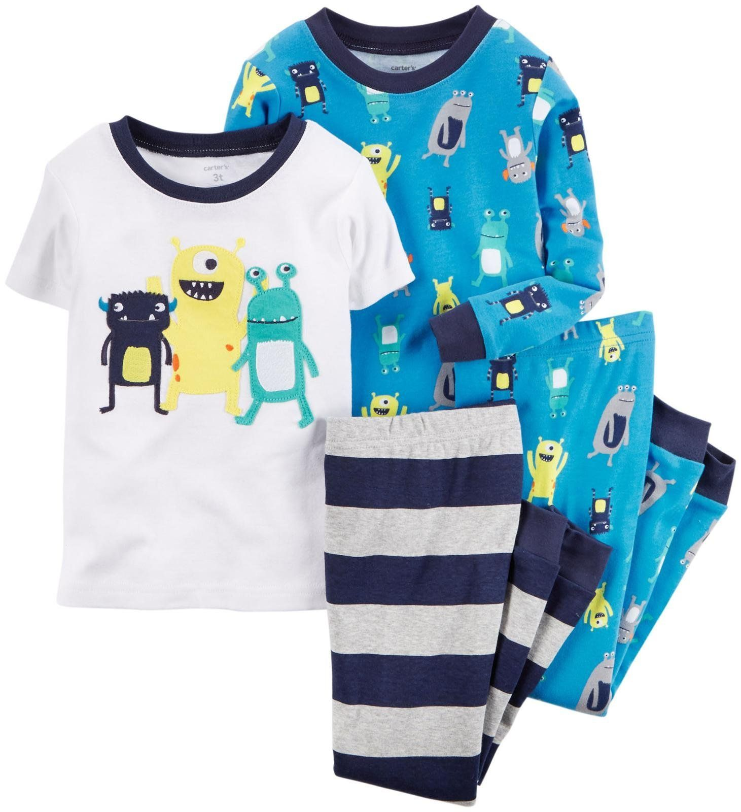 Baby Carters Baby Boys 4 Piece PJ Set