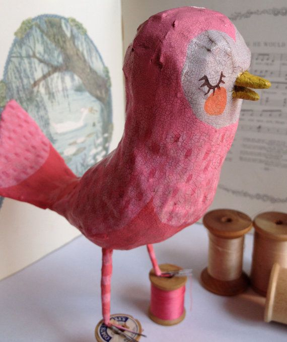 поделка птичка из папье маше фото смотрятся задние фонари
