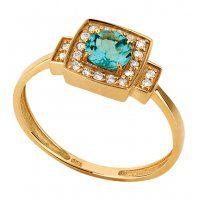 Anel em Ouro Amarelo 18k Apatita com diamantes