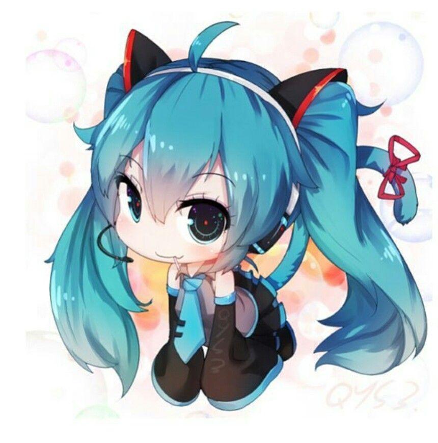 Oh my glob hatsune miku anime chibi vocaloid - Cute anime miku ...