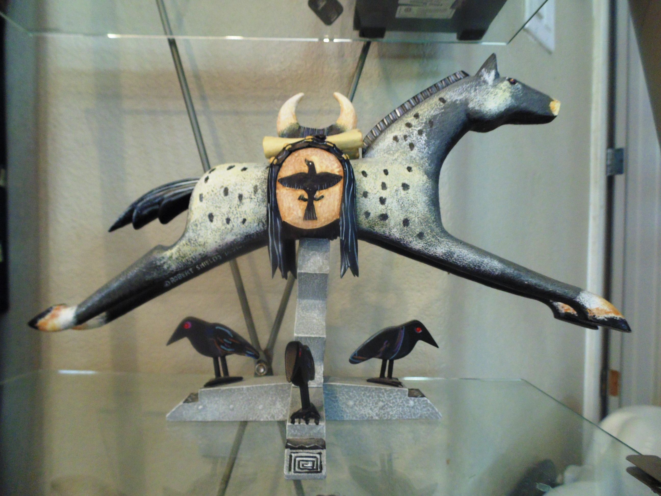 Sold Robert Shields Design Sculpture Horse Amp Crow