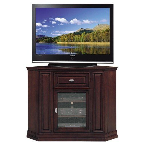 Riley Holliday 46 Highboy Corner Tv Stand In Espresso 4 Shelf